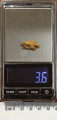 Australian Natural Gold Nugget 3.6 grams  approx weight .