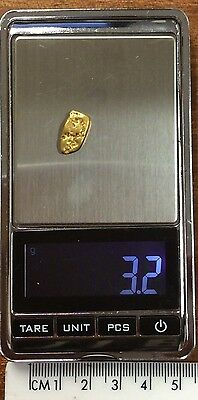 Australian Natural Gold Nugget 3.2 grams  approx weight .