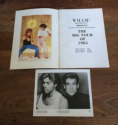 RARE U.S Make It Big Tour Programme PLUS PROMO PHOTO-George Michael (Wham!)