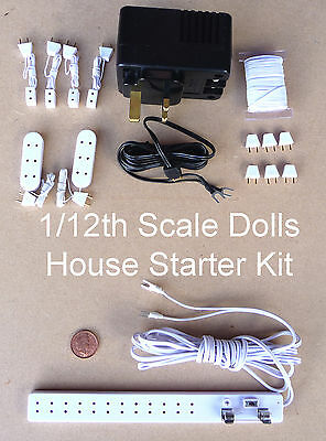 1:12 Scale Tumdee Dolls House 12 Volt Lighting Accessory Wiring Starter Kit