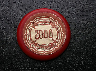 CASINO MUNICIPALE - Very rare token - Old vintage - Gaming Chip 2000 !!
