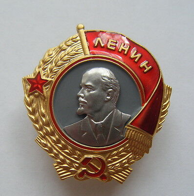 "Soviet Russian Award  Medal ""order Of Lenin"". Type#2. Ussr. Copy"