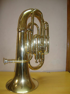 BUY IT NOW!! NEW BRASS FINISH Bb/F FLAT EUPHONIUM+WITH FREE HARD CASE+MOUTHPIECE