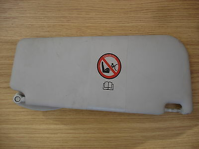 FIAT PUNTO 1999 to 2006 PASSENGER SIDE / LEFT HAND SIDE / SUN VISOR WITH CLIP