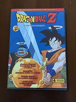 Dragon Ball Z Dvd 6 - Caps 21 A 24 - 100 Min - Ed Remasterizada Sin Censura