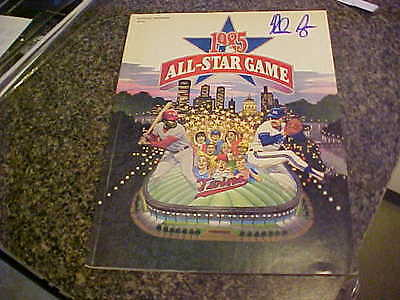 Nolan Ryan Houston Astros Signed 1985 All Star Game Program Ryan Coa