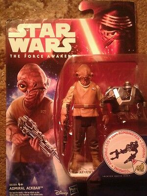 Star Wars The Force Awakens Admiral Ackbar action figure - New