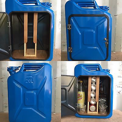 Upcycled Jerry Can Mini Bar, Picnic, Camping, Recycled, New Can, Blue, Man cave