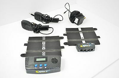 Scalextric C8217 Sport Power Base Transformer, 2 Hand Controllers & Lap counter