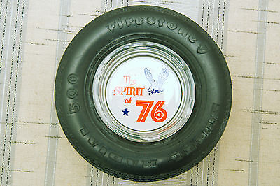 Vintage Firestone Tire Ashtray Spirit of '76 Steel Radial 500 EUC