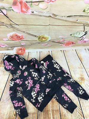Girls Children's Floral Tracksuit size 3-4 Years