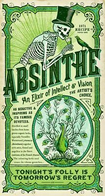 Absinthe VINTAGE LABEL METAL TIN SIGN POSTER WALL PLAQUE