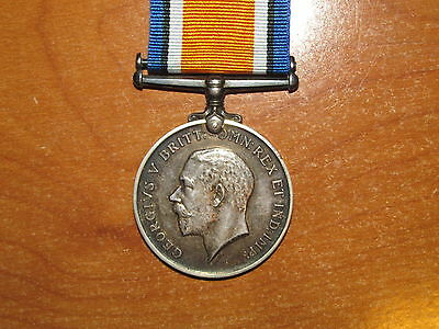 WW1 silver British War Medal named Gibson KIA April 8 1917
