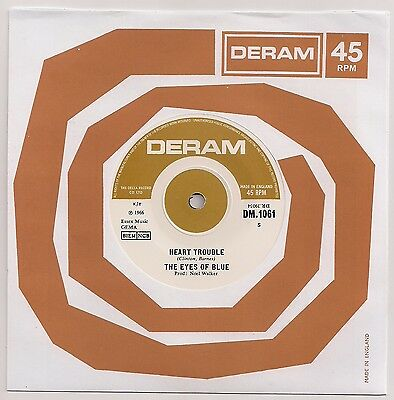"60's MOD 7"" 45 THE EYES OF BLUE HEART TROUBLE / SUPERMARKET FULL... REISSUE"