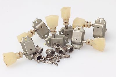 Kluson® Single Line/Double Ring Tuners Nickel aged fits Gibson® with WD® Buttons