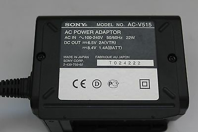 Sony Ac-V515 Ac Power Supply Charger Adaptor 2-439-750-02