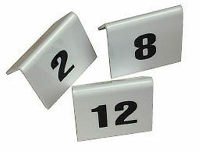 PLASTIC TABLE NUMBERS SET 41 TO 50 Restaurant cafe