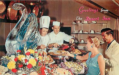 Las Vegas Nevada - Greetings From The Desert Inn - Buffet & Ice Sculpture - Pc