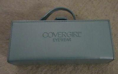 Light Blue Covergirl Eyewear case briefcase style with mirror