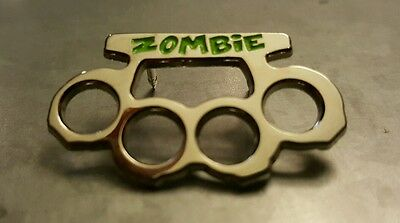 ZOMBIE BRASS KNUCKLES Bam Box Collectible Pin EXCLUSIVE Limited Edition