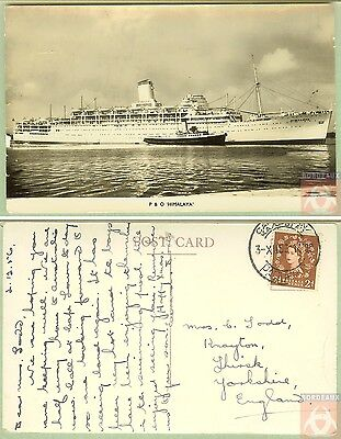 Angleterre - Carte Postale PAQUEBOT - HIMALAYA - Posted at Sea 1953