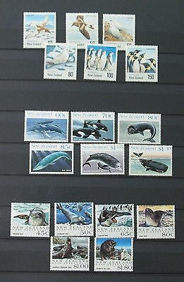 Ross Dependency 3 sets : 1988 Wales MNH, 1990 Birds LMM and 1992 Seals MNH