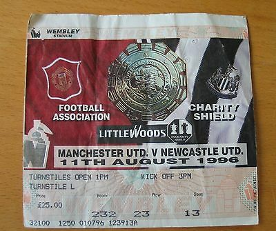 1996 Charity Shield ticket Manchester United  Newcastle