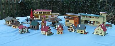 Collectio of Faller HO Buildings - Stations, Houses, Church etc