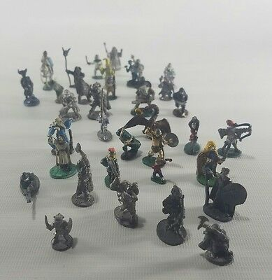 Vintage Ral Partha Dungeons and Dragons D&D Miniatures Lot of 36 lead 1977 78 79