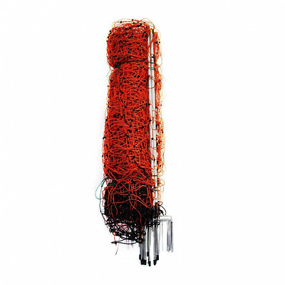 """Farmily 42""""x164' Deer and Livestock Electric Netting Fence with 14 Pieces Step-I"""