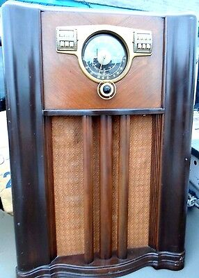 Antique ,vintage,tube Radio/short Wave/police Console-Zenith 10-S-567 Glass Top
