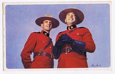 American Airlines Advertising   Postcard Serving Canada Showing Rcmp Officers