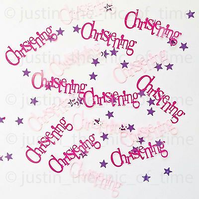 Pink Christening Religious Party Decorations Boy Girl Table Confetti 14.1g