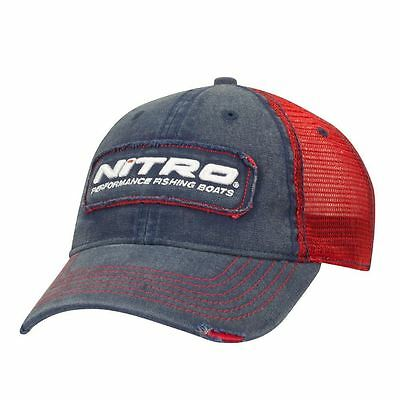 Nitro Boats Gear Lure Distressed Red Super Soft Trucker Mesh Back Hat
