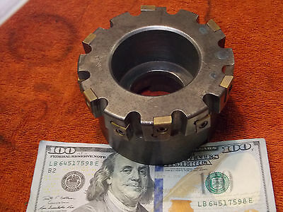 "SECO D109206 4"" shell face notching mill 1.5"" arbor sz. 12 indexable carbide bit"