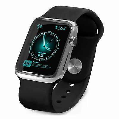Tuff-Luv Silicone Wrist Watch Strap Band for Apple watch 1 / 2 Sport -38mm-Black