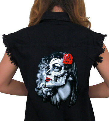 Womens Gothic Day Of The Dead Bride And Groom Sugar Skull T-shirt NEW UK 6-18
