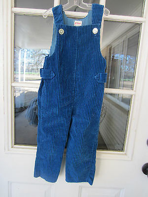 1960s J.C. Penney Towncraft boys or unisex peacock blue corduroy overalls