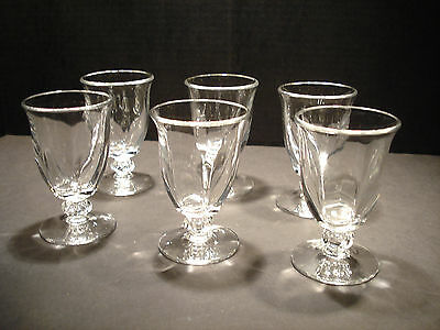"Canterbury Duncan Miller 4 1/2"" Cocktail Glasses Set of Six"
