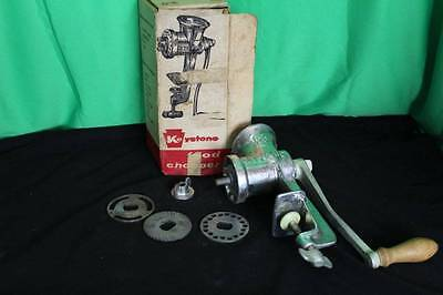 Vintage Keystone Food Chopper Antique Meat Grinder Hand Powered Collectible