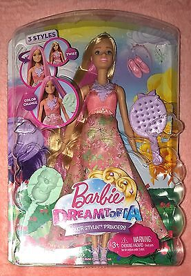 Barbie DREAMTOPIA Rainbow Color Stylin' Princess Doll NEW