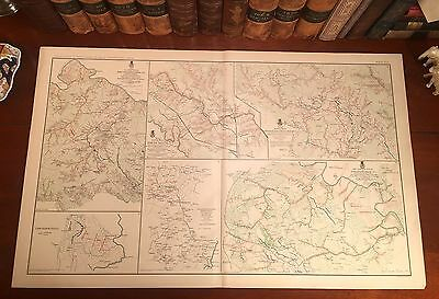 Original Antique Civil War Map THE WILDERNESS Spotsylvania VIRGINIA Hanover VA