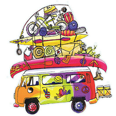 """Peace Frogs Loaded Van Sticker ~ 4"""" x 6"""" ~ High Quality Vinyl ~ Made in USA!!"""