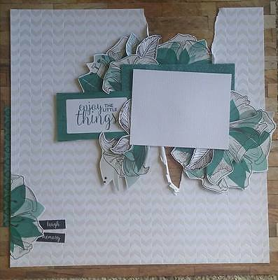 handmade premade scrapbook page layout 12 X 12 -  Female all occasions