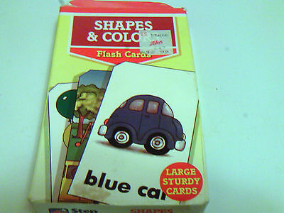 Shapes and colours flash cards