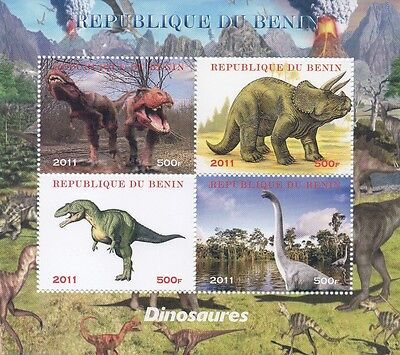 Dinosaur Pre-Historic Monster Reptile Animal 2011 Mnh Stamp Sheetlet