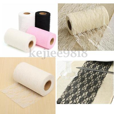 22M Lace Table Runner Roll Vintage Wedding Party Banquet Chair Sash Decoration