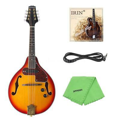 ammoon Adjustable 8-String Electric A Style Mandolin with Case P6J6
