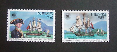 Nevis 1983 Commonwealth Day SG103/7 MNH UM ships sailing mountains unmounted