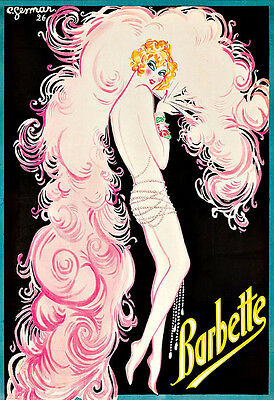 Barbette Play Show Chic Deco   Poster Print